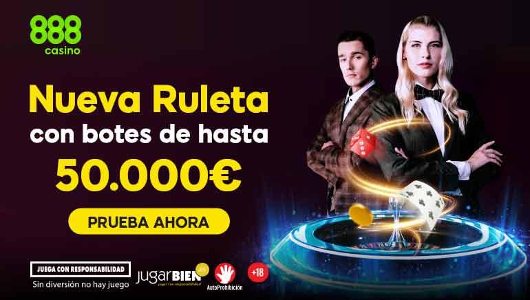 nueva ruleta con botes de hasta 50000€
