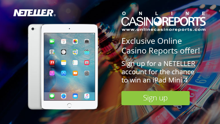 Gana un iPad Mini 4 con Neteller y Online Casino Reports