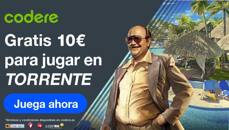 Codere Casino España lanza una promoción de 10 euros gratis para la tragaperras de Torrente