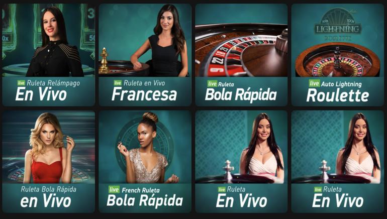 Las mesas de ruleta en vivo de Casino777