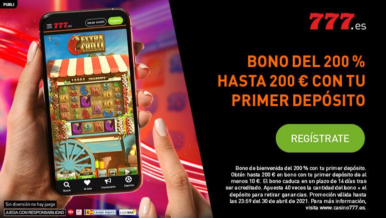 En Casino777.es se tira la casa por la Ventana con un bono de bienvenida del 200% hasta €200