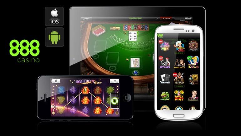 Juegos del casino móvil de 888, ¡diversión para llevar!