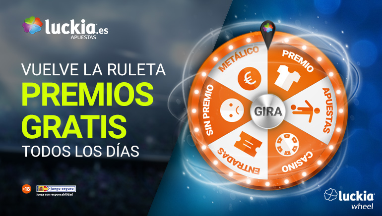 ¡Vuelve la ruleta de los premios del casino Luckia!