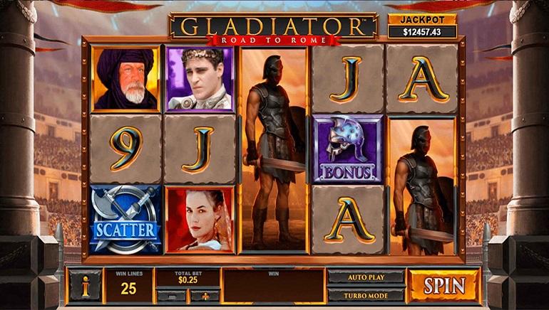 Codere Casino reparte un enorme bote a un jugador en Gladiator: Road to Rome, de Playtech